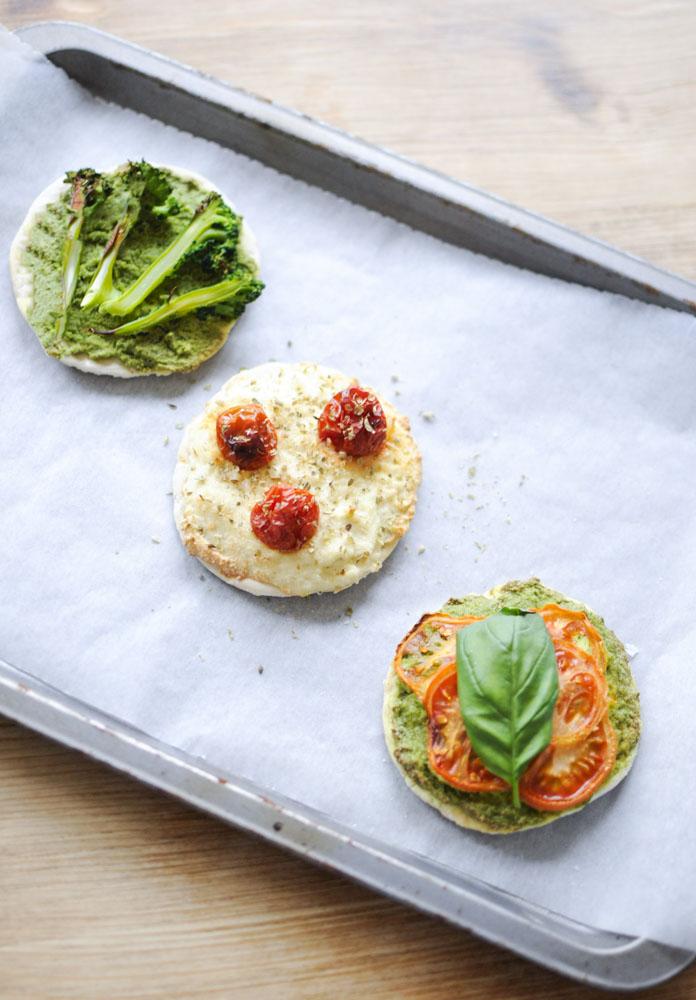 Pizzetas con Ricotta de Almendra ~Sin Gluten~